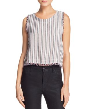 Bella Dahl Fringed Striped Top