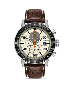 Citizen - Men's Leather Strap Watch, 44mm