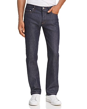 A.p.c. New Standard Straight Fit Jeans in Indigo Stretch