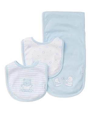 Little Me Infant Embroidered Bear Bib & Burp Cloth Set