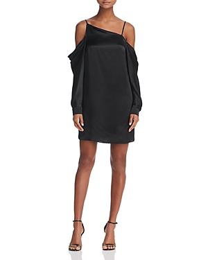 Parker Camille Cold-Shoulder Silk Dress