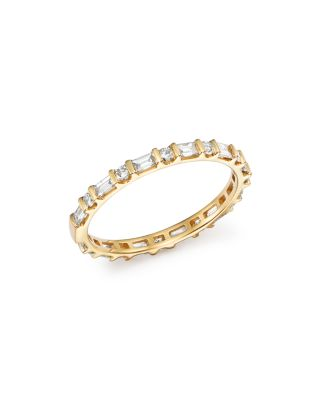 Baguette & Round Diamond Band in 14K White Gold, 0.55 ct. t.w. - 100% Exclusive