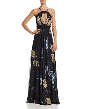 Jill Jill Stuart Cutout Floral Gown