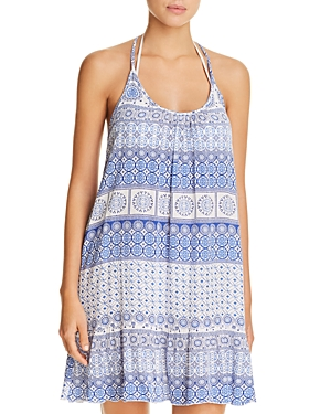 J. Valdi Strappy Back Ruffle Dress Swim Cover-Up