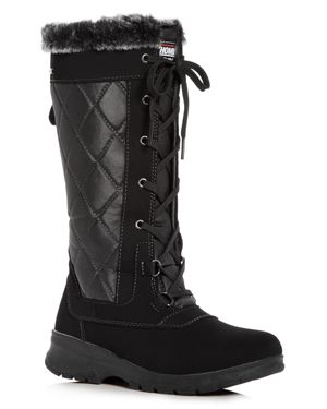 Khombu Women's Jackson Waterproof Cold-Weather Wedge Boots