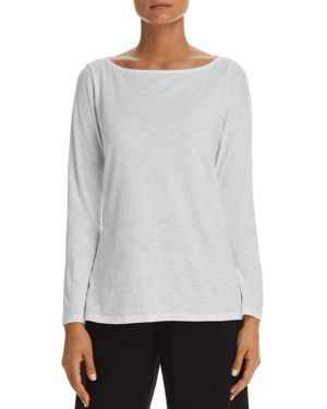 Eileen Fisher Boatneck Organic Cotton Tee