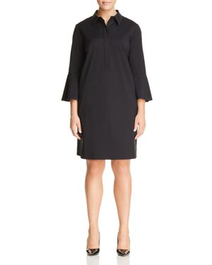 Lafayette 148 New York Plus Lunella Contrast-Stitch Shirt Dress