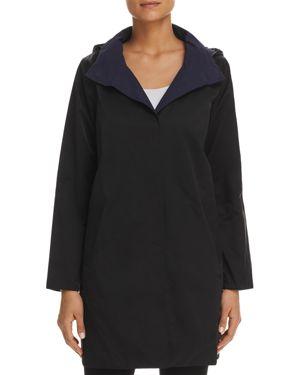 Eileen Fisher Petites Reversible Hooded Coat