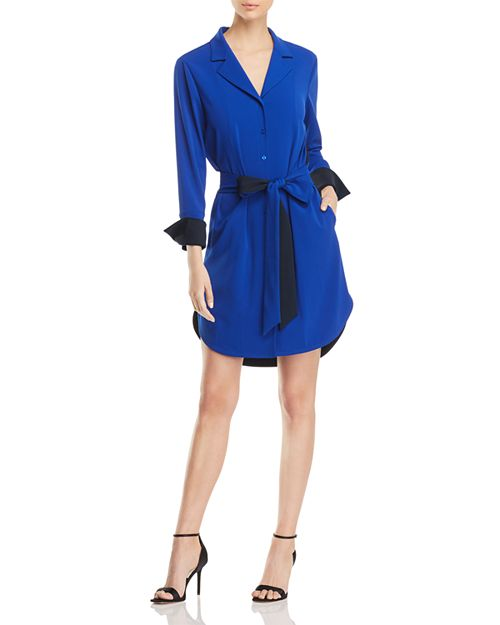 Badgley Mischka - Color-Block Shirt Dress