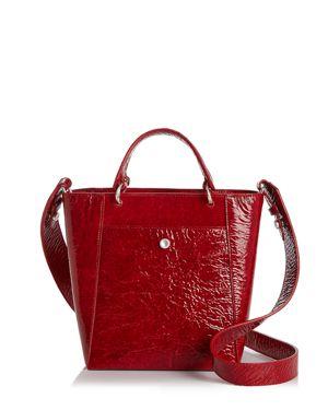 Elizabeth and James Eloise Petit Patent Leather Crossbody Tote 2757402