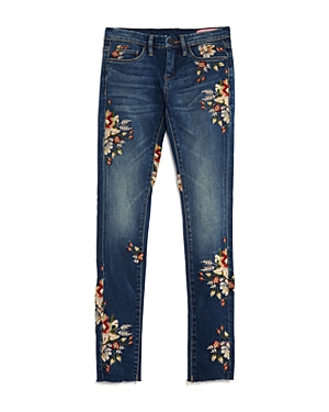 Blanknyc Girls' Floral Embroidered Skinny Jeans - Big Kid