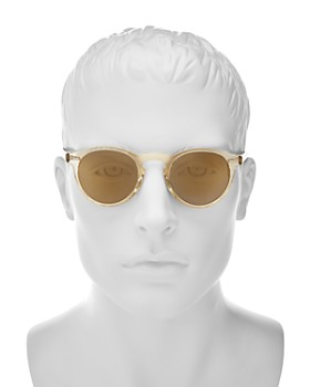 Oliver Peoples - Men's Gregory Peck Mirrored Round Sunglasses, 47mm