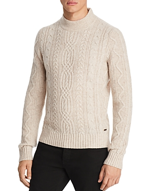 Boss Orange Kabiol Cable Knit Mock Neck Sweater
