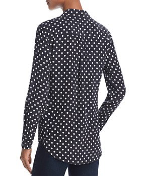 Equipment - Slim Signature Silk Dot Shirt