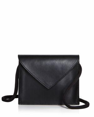 Pen Pal Textured-Leather Belt Bag in Black