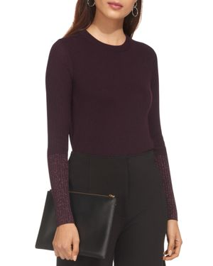 Whistles Sparkling-Cuff Sweater