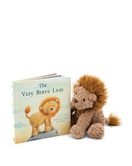 Jellycat - Fuddlewuddle Lion & The Very Brave Lion Book - Ages 0+