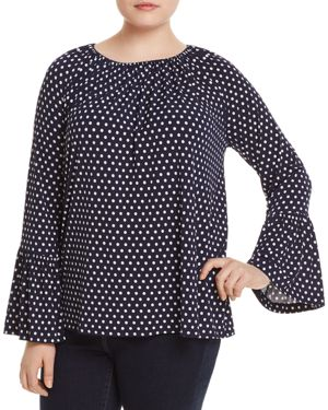 Michael Michael Kors Plus Simple Dot Peasant Top