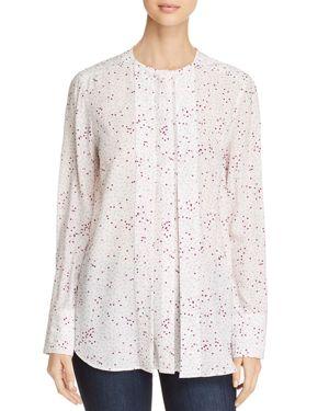 Donna Karan New York Dot Print Long Sleeve Blouse