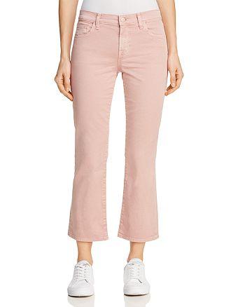 J Brand - Selena Mid Rise Crop Boot Jeans in Vinca