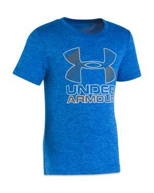 Under Armour Boys' Big Logo Hybrid Tee - Little Kid