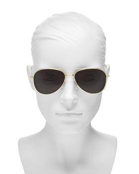 Illesteva - Women's Wooster Brow Bar Aviator Sunglasses, 58mm