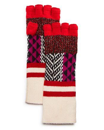 Burberry - Mixed Fair-Isle Fingerless Gloves