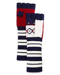 Burberry Cable Fair Isle Fingerless Gloves - Bloomingdale's_0