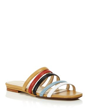 CREATURES OF COMFORT WOMEN'S COMO STRAPPY LEATHER SLIDE SANDALS