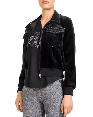 The Kooples Studded Velvet Jacket