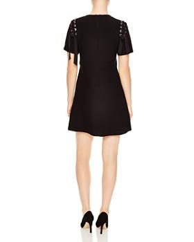 Sandro - Faha Lace-Up Shoulder Mini Dress