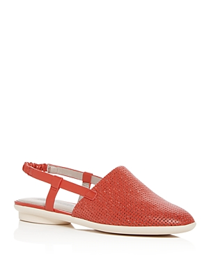 Donald Pliner Women's Maci Perforated Leather Slingback Flats
