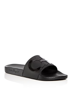 Salvatore Ferragamo - Men's Groove 2 Original Double Gancini Slide Sandals