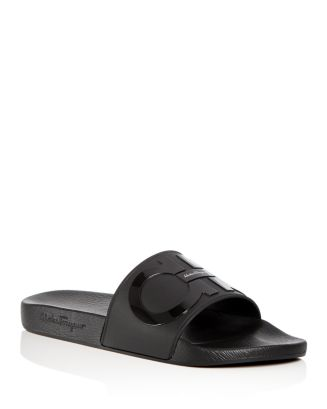 62da72365f12 Salvatore Ferragamo Men s Groove 2 Original Double Gancini Slide Sandals