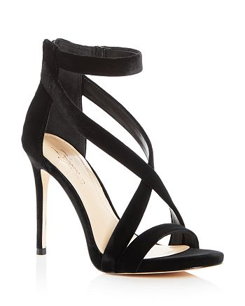 Imagine VINCE CAMUTO - Women's Devin Velvet Crisscross High-Heel Sandals