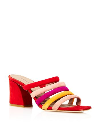 Donald Pliner - Women's Wes Color-Block Suede High-Heel Slide Sandals - 100% Exclusive