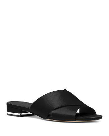 25e67fca8e89 MICHAEL Michael Kors - Women s Shelly Satin Slide Sandals