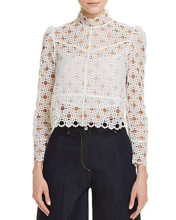 Sandro - Coralisse Eyelet-Lace Top