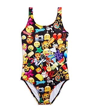 Terez Girls' Mixed Emoji Swimsuit - Little Kid, Big Kid