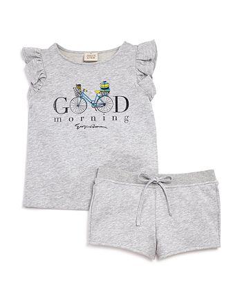 Armani Junior - Girls' French Terry Good Morning Top & Shorts Set - Big Kid