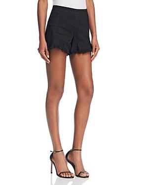 Blanknyc Be a Frayed Fringed Denim Shorts