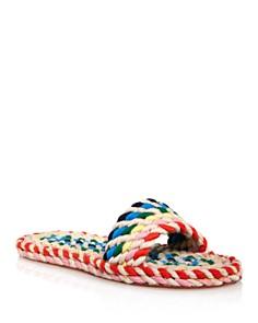 Loeffler Randall - Women's Elle Woven Rainbow Slide Sandals