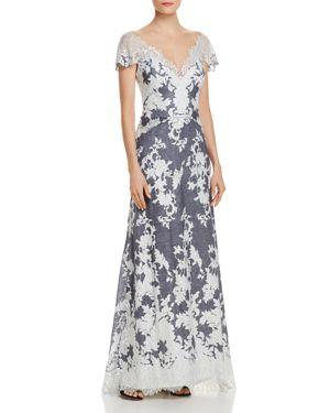 Tadashi Shoji Illusion Lace Gown