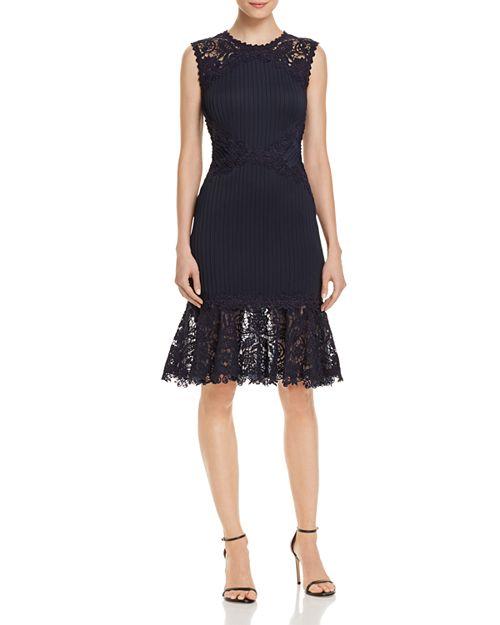 Tadashi Shoji Pintuck-Detail Lace Dress - 100% Exclusive ...