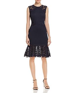 Tadashi Shoji Pintuck-Detail Lace Dress - 100% Exclusive