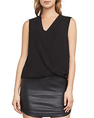 Bcbgmaxazria Netti High-Low Wrap Top
