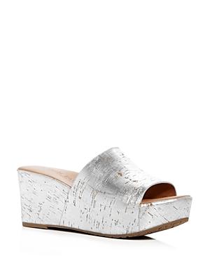 Gentle Souls Women's Forella Cork Platform Slide Sandals