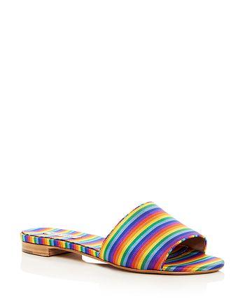 Tabitha Simmons - Women's Sprinkles Stripe Slide Sandals