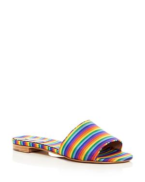 Tabitha Simmons Women's Sprinkles Stripe Slide Sandals
