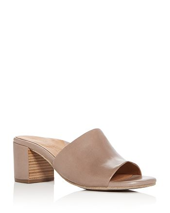 e9926830558 Gentle Souls by Kenneth Cole - Women s Chantel Leather Block Heel Slide  Sandals